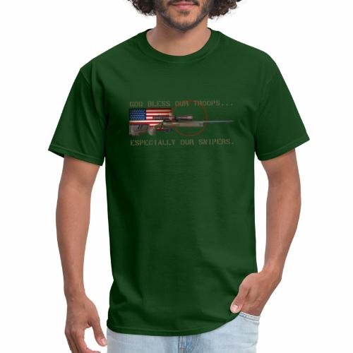 God Bless Our Snipers - Men's T-Shirt