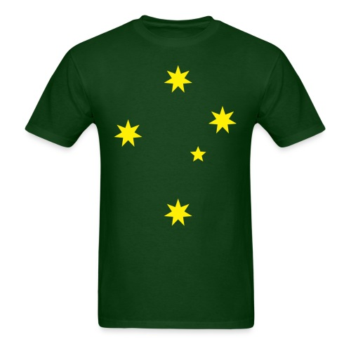 Aussie Green and Gold Southern Cross Tee - Men's T-Shirt