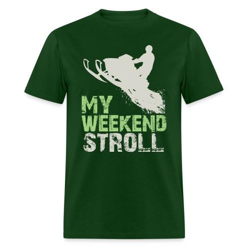 Snowmobile Weekend Stroll - Men's T-Shirt