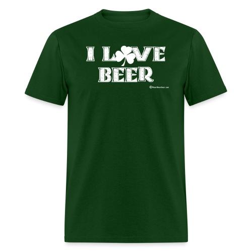 I Love Beer (Shamrock) White - Men's T-Shirt