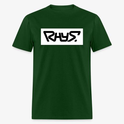 rhys basic logo black jpg - Men's T-Shirt