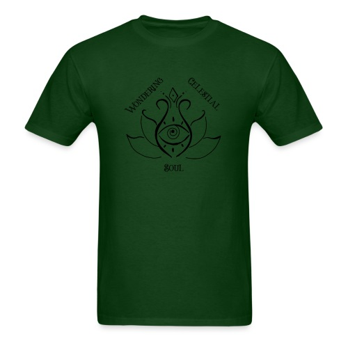Dark Wondering Celestial Soul Logo - Men's T-Shirt