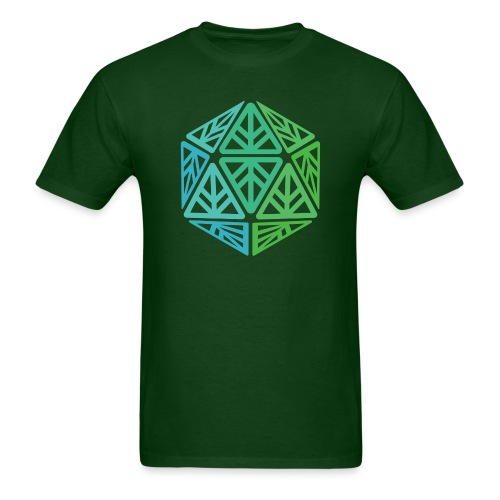Green Leaf Geek Iconic Logo - Men's T-Shirt