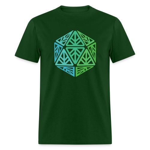 Green Leaf Geek Iconic Logo - Men's T-Shirt