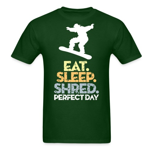 Snowboard Eat Sleep Shred - Men's T-Shirt