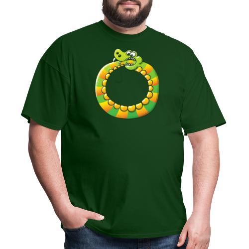 Crazy Snake Biting its own Tail - Men's T-Shirt