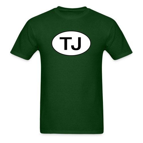 Jeep TJ Wrangler Oval - Men's T-Shirt