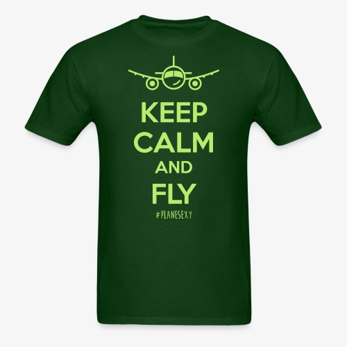 Keep Calm and Fly! - Men's T-Shirt