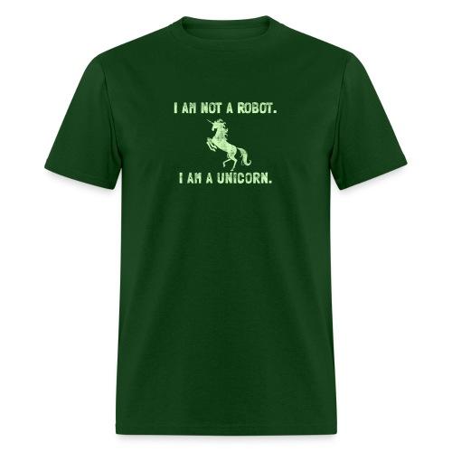 unicorn tall light green - Men's T-Shirt