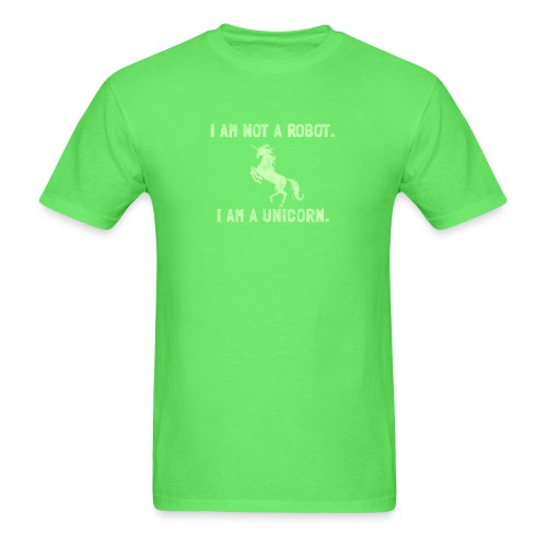 unicorn tall light green - Men's T-Shirt