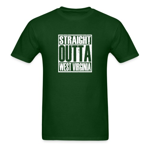 Straight Outta West Virginia - Men's T-Shirt