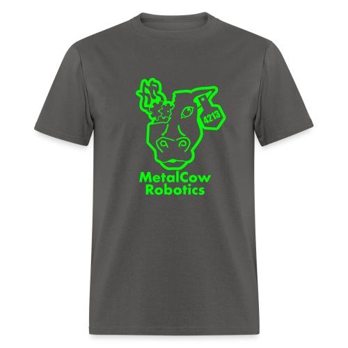 MetalCowLogo GreenOutline - Men's T-Shirt