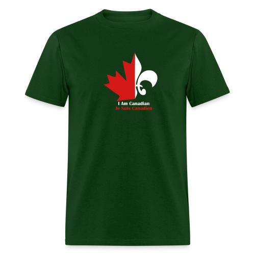 Maple Leaf Fleur de lis - Men's T-Shirt