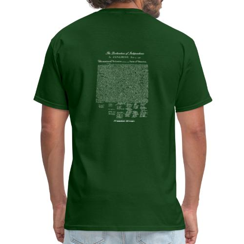 Declaration of Independence White Lettering - Men's T-Shirt