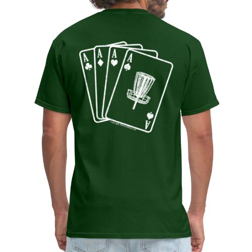 Disc Golf Aces Playing Cards White Print - Men's T-Shirt