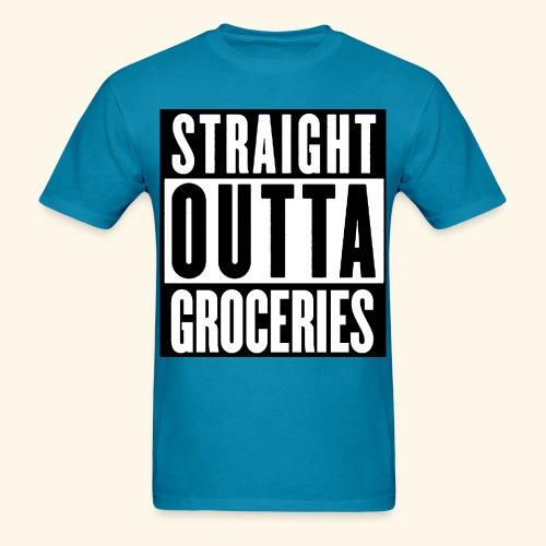 STRAIGHT OUTTA GROCERIES - Men's T-Shirt