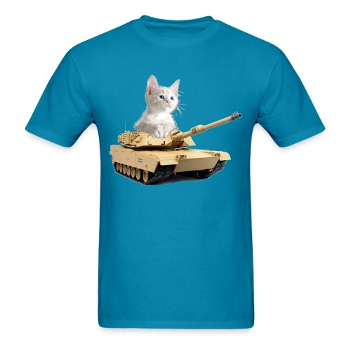 Tank Cat - funny Cat in a rc tank - Men's T-Shirt