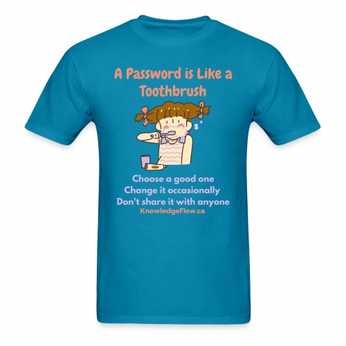 A Password is Like a Toothbrush...(1) - Men's T-Shirt