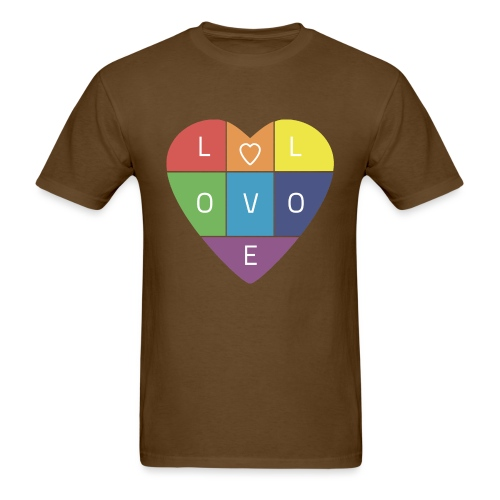 Rainbow Heart - Men's T-Shirt