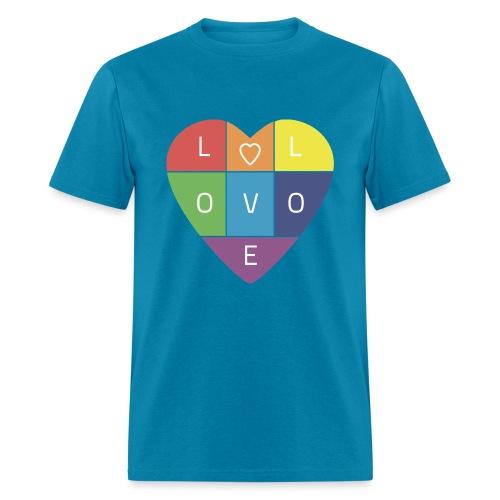 Rainbow Heart - Men's T-Shirt