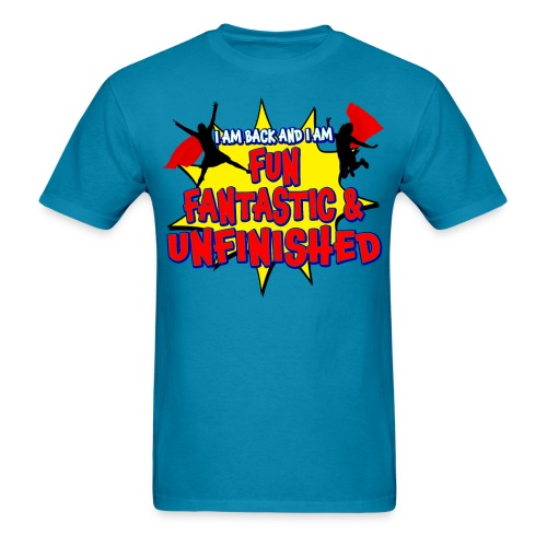 Unfinished girls jumping - Men's T-Shirt