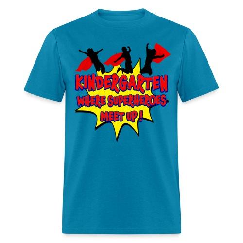 Kindergarten where SUPERHEROES meet up! - Men's T-Shirt