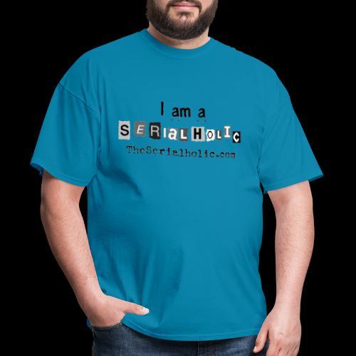 Black Serialholic Logo - Men's T-Shirt