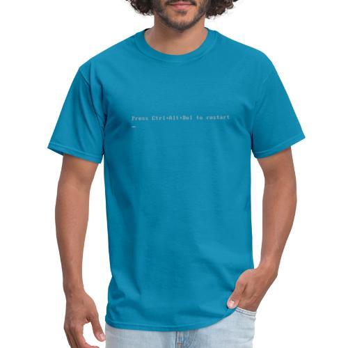 Press Ctrl Alt Del to restart - Men's T-Shirt