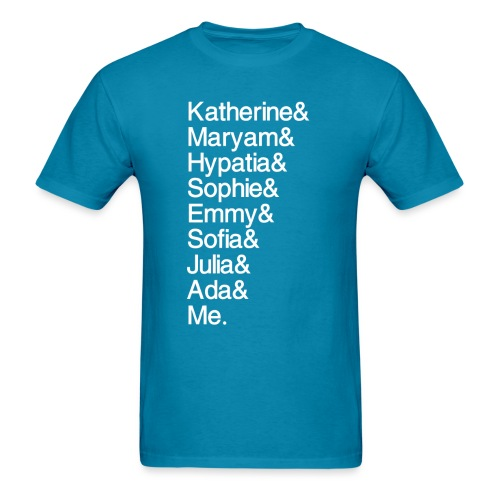Women in Math & Me (at bottom) - Men's T-Shirt