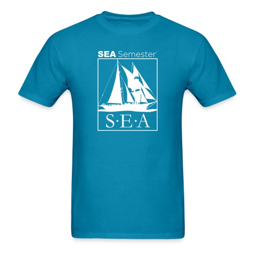 SEA_logo_WHITE_eps - Men's T-Shirt