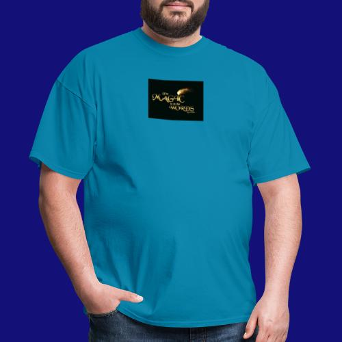 The magic is in the words gold - Men's T-Shirt