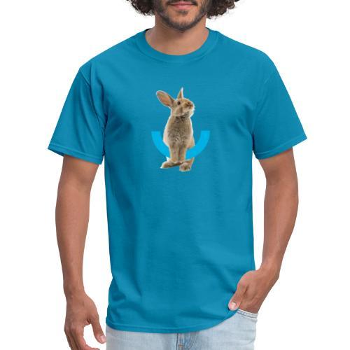 Rabbit Icon & Logo in Back - Men's T-Shirt