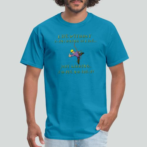 LIFE WITHOUT CANYONING-on light front-2 sided - Men's T-Shirt