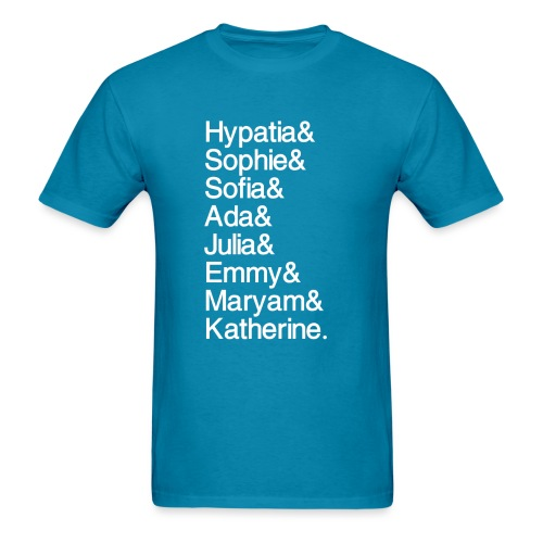 Math Gals OG w/ #MathGals hashtag - Men's T-Shirt
