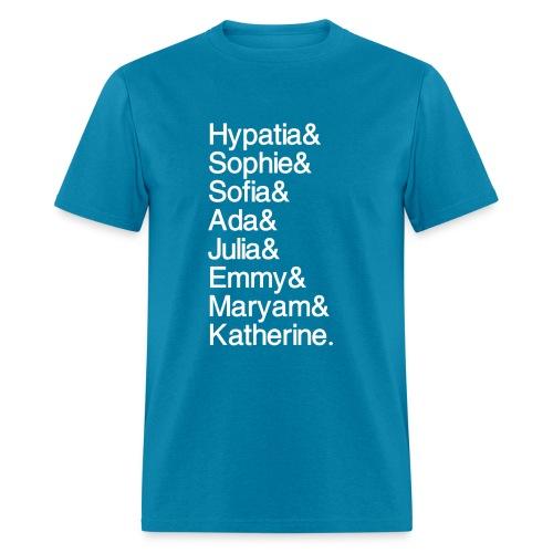 Math Gals OG w/ #MathGals hashtag - Men's T-Shirt