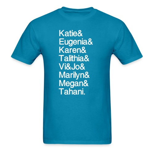MathGals & Megan with hashtag - Men's T-Shirt