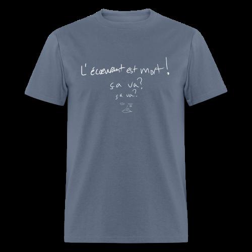 bonsoir, fucker (l'écœurant / white) - Men's T-Shirt