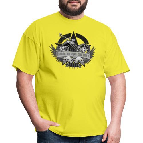 Hardcore. Old School. Deal With It. - Men's T-Shirt