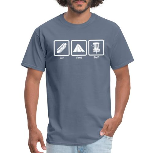 Eat Camp Disc Golf Copyright Kathleen Loraine - Men's T-Shirt