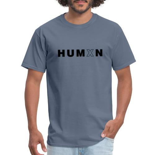 Humxn Text Logo(Black) - Men's T-Shirt