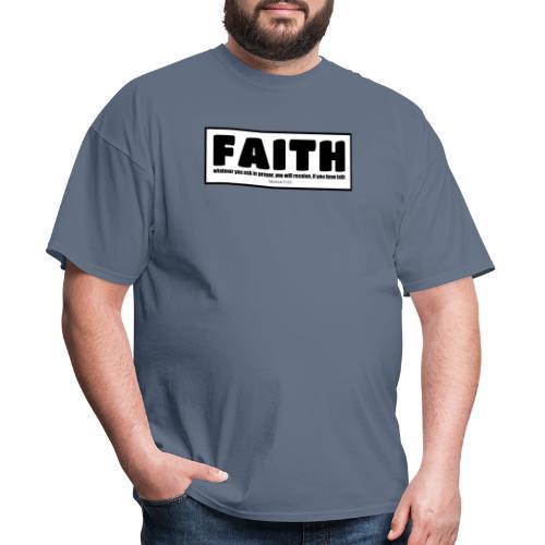 Faith - Faith, hope, and love - Men's T-Shirt