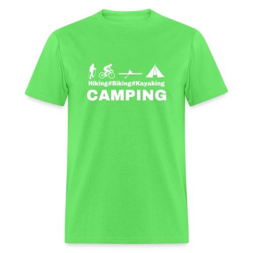 hiking biking kayaking and camping - Men's T-Shirt
