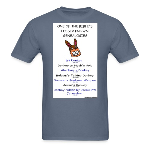 donkey genealogy tshirt - Men's T-Shirt