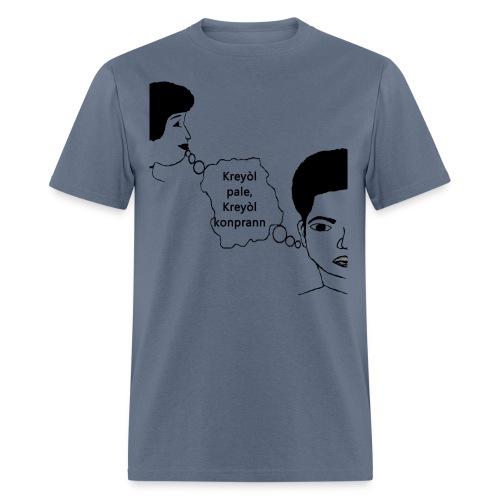 Kreyol_pale_Kreyol_kompran - Men's T-Shirt