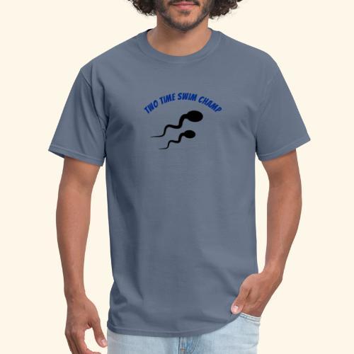 Adult Fathers day swim champ - Men's T-Shirt