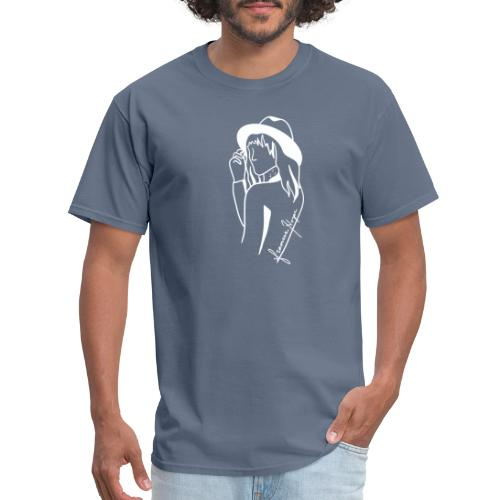 Minimal White Line - Men's T-Shirt