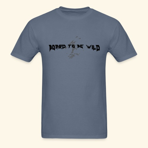 Front and back Wild Skier logos (black letters) - Men's T-Shirt