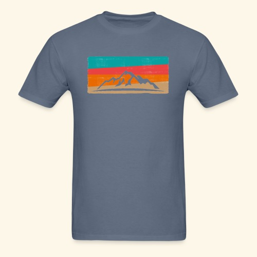 Retro Mountain Hiking Design - Men's T-Shirt