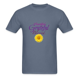 Thankful grateful blessed - Men's T-Shirt