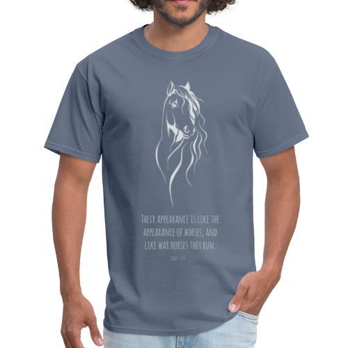 Joel 2:4 - Horses (White printed) - Men's T-Shirt